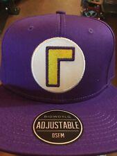 Super Mario WALUIGI SnapBack Hat. Brand New. One Size Fits All