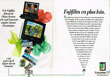PUBLICITE ADVERTISING 104  1996  FUJIFILM  appareils photo caméras ( 2pages)