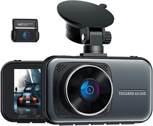 4K Dual Dash Cam for Cars UHD 2160P+1080P Front & Rear Capacitor Drive Recorder
