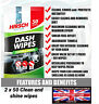 2 Pack Of 50 Auto Car Dash Glass Interior Cleaning 100 Wipes  Dirt Shine Care