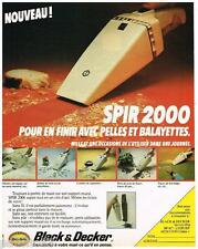PUBLICITE ADVERTISING 095  1980  BLACK & DECKER outillage  aspirateur SPIR 2000