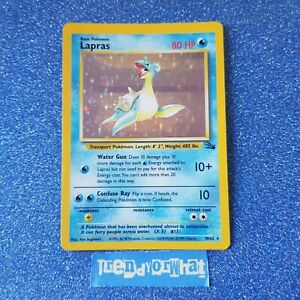 1990 Vintage Pokemon cards wotc Lapras 10/62 HOLO - Fossil Base Set Card NM