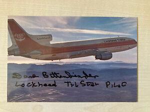 Lockheed Tristar L1011 test pilot signed Dave Bittenbinder