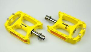 (US) New Wellgo MTB M138 Magnesium Mountain Bike Pedal MTB Pedals  238g Yellow
