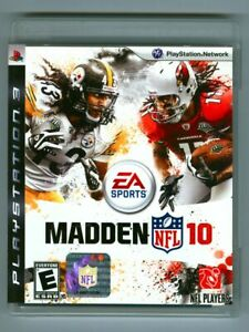 MADDEN NFL 10 (Sony PlayStation 3, 2009) Complete in Case! EA Sports Football!