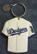 """LOS ANGELES DODGERS 2 SIDED RUBBER HOME/AWAY JERSEY KEY RING 2005 PEPSI 2 1/4"""""""