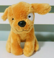 Igloo Books Dog Plush Toy Children's Book Toy Brown Dog White Eye 14cm Tall!