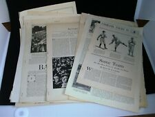 Amazing Collection of 1800's & Early 1900's Baseball Magazine Pages Ty Cobb +++