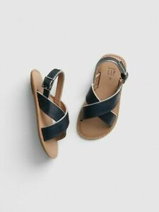 Baby Gap Girls Toddler Criss Cross Navy Sandals Size 7 NEW
