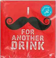 Red Mustache for Another Drink Cocktail Moustache Party Paper Beverage Napkins