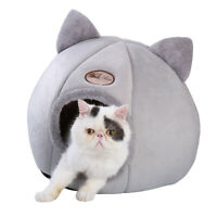 Pet Dog Cat Cave Beds Puppy Soft Warm Igloo Nest Comfy Sleeping Kennel Mattress