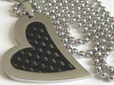 Unisex Modeschmuck-Halsketten & -Anhänger aus Edelstahl mit Herz-Schliffform