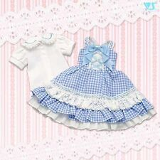 Volks Blueberry Gingham Check Set BJD DD MDD mini Dollfie Dream MSD