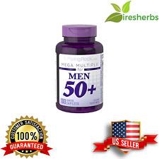 MEGA MULTIPLE MEN 50 + VITAMIN DIETARY SUPPLEMENT MULTIVITAMIN 100 COATED CAPS