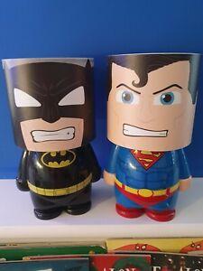 2 X Superhero Lamp Batman Superman DC Comics Night Light LED