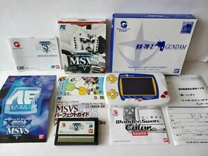 WONDERSWAN Color Console GUNDAM Ver. RX-78-2 Blue Limited Boxed tested-b809-