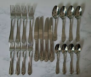 Mikasa Love Story 20 Pc Place Setting Stainless 18/10 Flatware Silverware #98H
