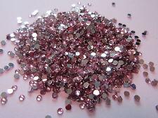 Bag of Over 10000 - Light Pink Flat Back Nail Art Craft Diamantes Gems #14B270