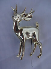 Small Plastic Vintage? Gold Tone Deer~Pick~Hong Kong~Wire~Christmas~Floral~Decor