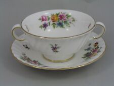 MINTON MARLOW TWO HANDLED SOUP COUPE AND SAUCER, 1st.
