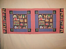 """Printed Pillows Tops or Quilt Blocks- Two 16"""" Sq."""