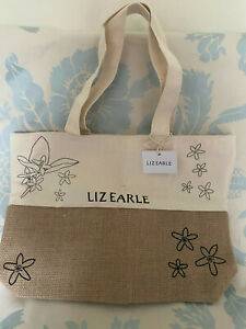 Liz Earle Cotton / Jute Tote Bag