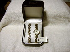 Vivani Ladies Watch and Bracelet SET GOLD & SILVER TONE IN BOX / NEW