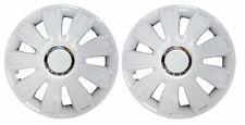 "Pair Of White 13"" Caravan Wheel Trims Hub Caps for ABI Award Nightstar 2007"