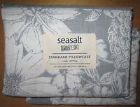 SEASALT Standard Pillowcase Pair BOTANICAL STUDY New