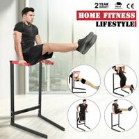Dipping Station Dip Stand Pull Push Up Bar Fitness Exercise Workout Gym 440lbs