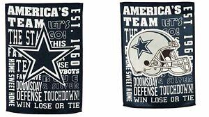 Dallas Cowboys Fan Rules Premium 2-Sided Garden Flag Outdoor Banner Football