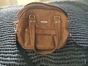 Vanchi Leather Tuscan Nappy Bag $40