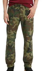 Levi's Mens 541 Athletic Taper Green Camouflage Print Jeans