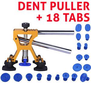 Car Dent Removal Paintless Dent Puller Lifter Repair Kit Hail Removal 18 Tab Set