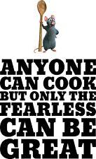 Ratatouille Disney Anyone can cook kitchen wall art vinyl sticker quote