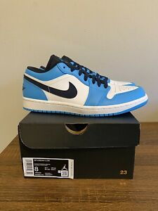 Nike Air Jordan 1 Low UNC Mens Size 8 Blue Obsidian White 553558 144 NEW
