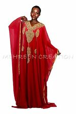 Vestido Kaftán Moderno Bling Mano Bordado Árabe Khaleeji Maghribi para Mujer
