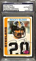 Rocky Bleier Signed 1978 Topps #19 Pittsburgh Steelers Football Card PSA/DNA