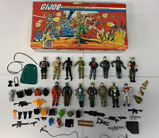 GI Joe Collectors Case 1984 (Holds 24) Lot Figures, Accessories, Guns, Pack, Etc