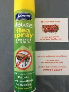 Johnsons House Flea Spray 400ml - Kills Fleas From Cats & Dogs