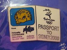 Sydney 2000 Olympic Mascot Passport Pin, Millie