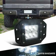"1x 5"" White 6 Cree LED 4X4 Off Road Flush Mount Light Flood Beam Fog Bumper Lamp"