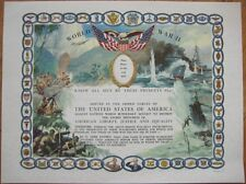 WWII US/American Armed Forces 1945 Service Certificate - Military Patriotic