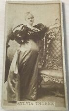 1886 Actress Tobacco Card SYLVIA THORNE. Blank back. Over 133 years old.