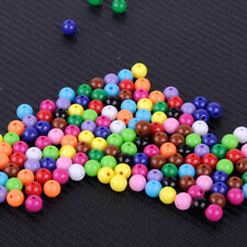 2 Bags 8mm Round Acrylic Mix Color Charms Loose Spacer Beads Jewelry Making DIY