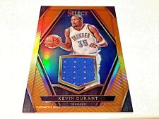 Kevin durant 2016 Panini Select Orange prizm refractor Game worn Jersey #/35 OKC