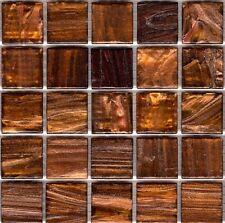 25pcs GM97 Dark Copper Bisazza Le Gemme Italian Glass Mosaic Tiles 2cm x 2cm