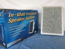 Pair Of CSI SP-825BB In-Wall Enclosed Speaker System 80Watt RMS/120 Watt Maximum