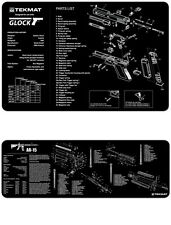AR-15 & Glock Combo 2 Mat Set Armorers Gun Cleaning Bench Mats TEK-MAT NEW !