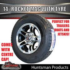 """14"""" & 185 LT Tyre Rocket suits Ford Alloy Mag Wheel. Caravan Trailer Boat Jetski"""